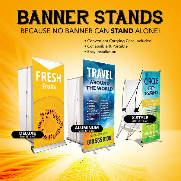 SIGN - BANNER STANDS